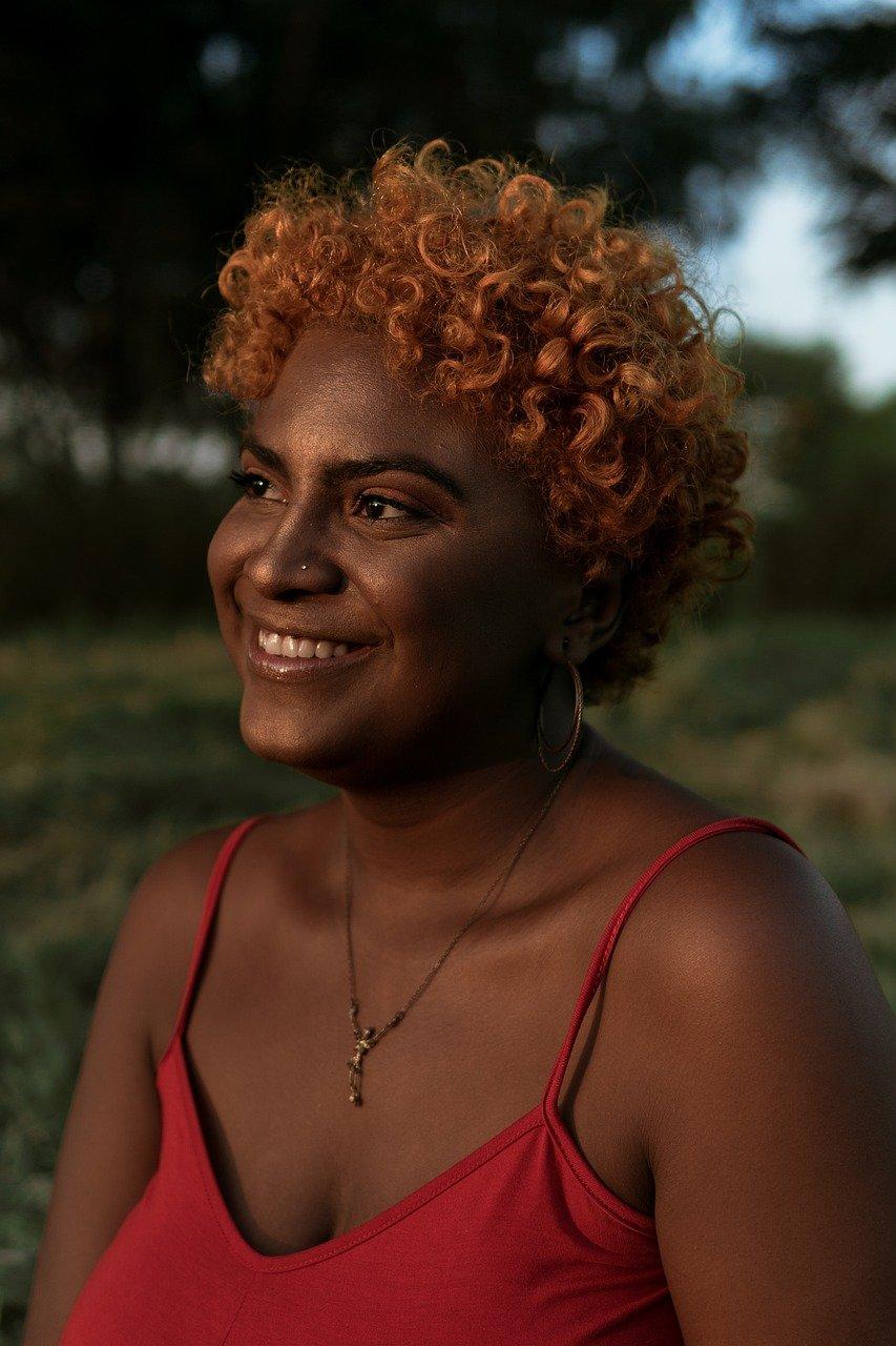 face, portrait, black woman